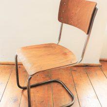 Chromovaná židle bez područek