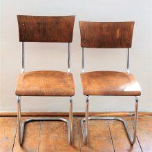2 ks chromované židle bez područek