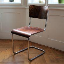 Chromovaná židle bez područek – Thonet S10