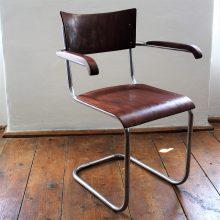 Chromovaná židle s područkami II.