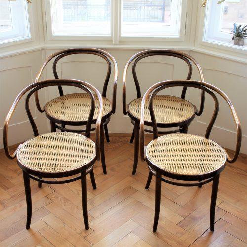 4 židle TON 30 z ohýbaného bukového dřeva