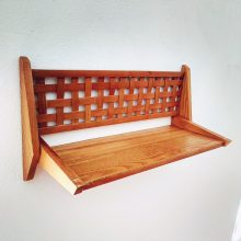 Retro wooden shelf
