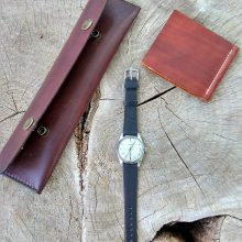 Wrist watch Prim + leather case and note sleeve