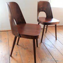 2 ks židle TON dle návrhu Oswalda Haerdtla