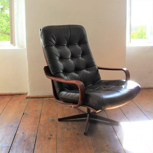 retro leather armchair from scandinavia