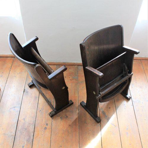 old wood cinema chair
