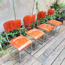 4 pcs original tubular chairs