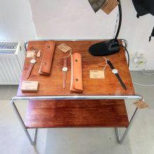 Tubular side table