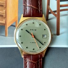 green elegant wristwatch Prim