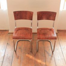 pair of tubular chairs