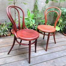 original bentwood chair Thonet no. 18 and no. 14